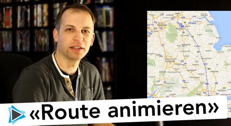 Reise Routen Animation mit Route Generator für Pinnacle Studio erstellen